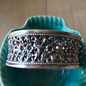 Jewelry - Floral design sterling silver cuff bracelet